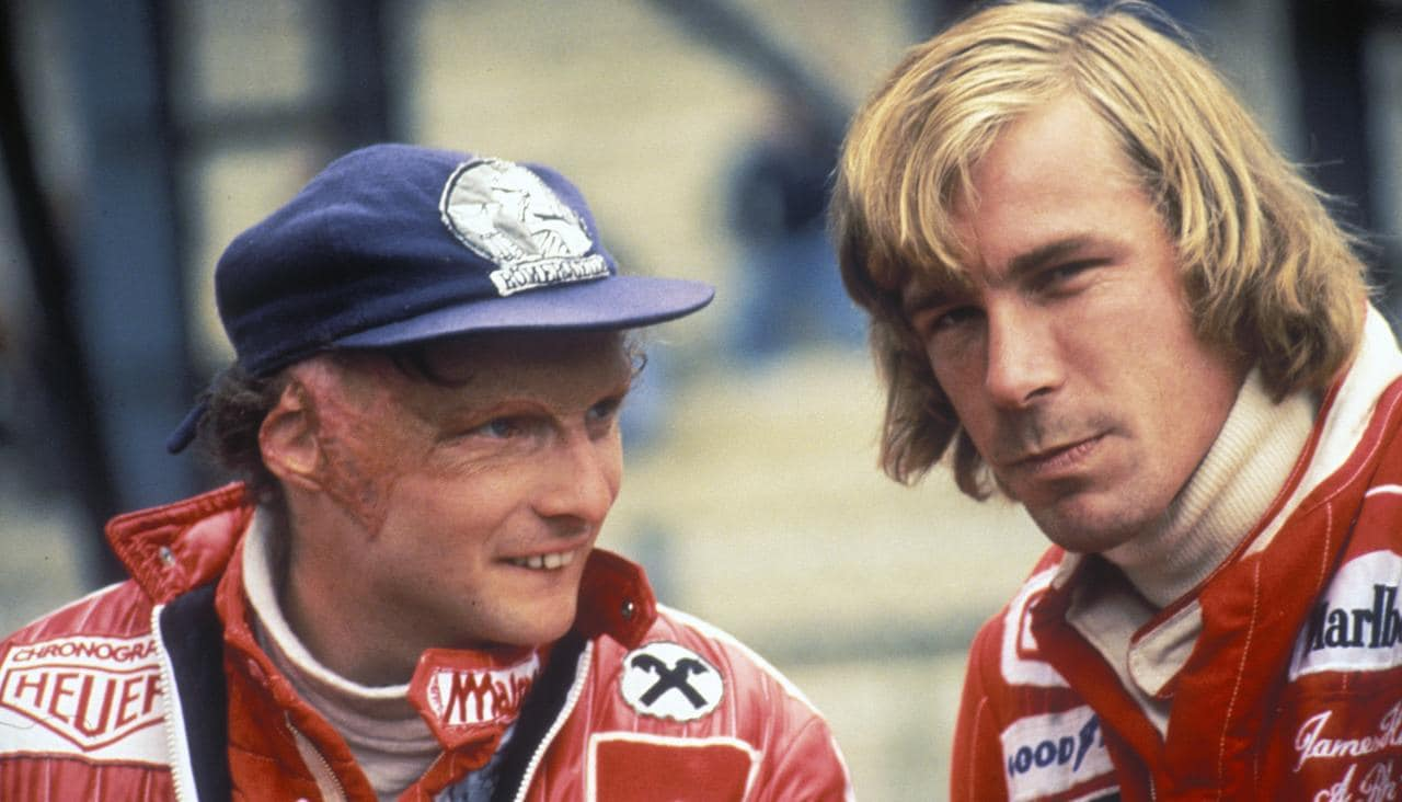 Niki Lauda com James Hunt