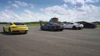 porsche 911 carrera 4s vs audi r8 performance vs nissan gt-r nismo vs bmw m850i