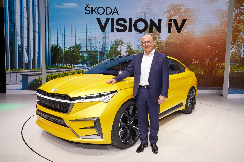 Skoda Vision iV com Bernhard Maier, CEO da Skoda