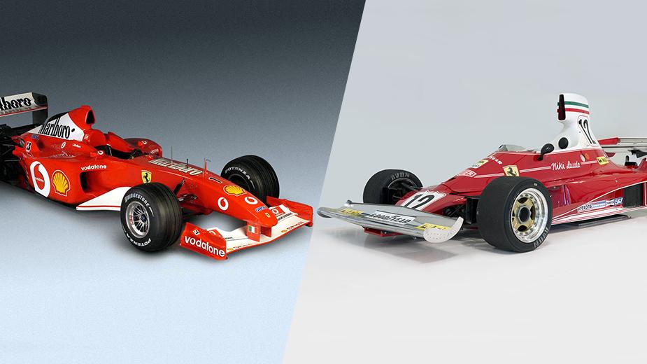 Ferrari 312T e Ferrari F2002