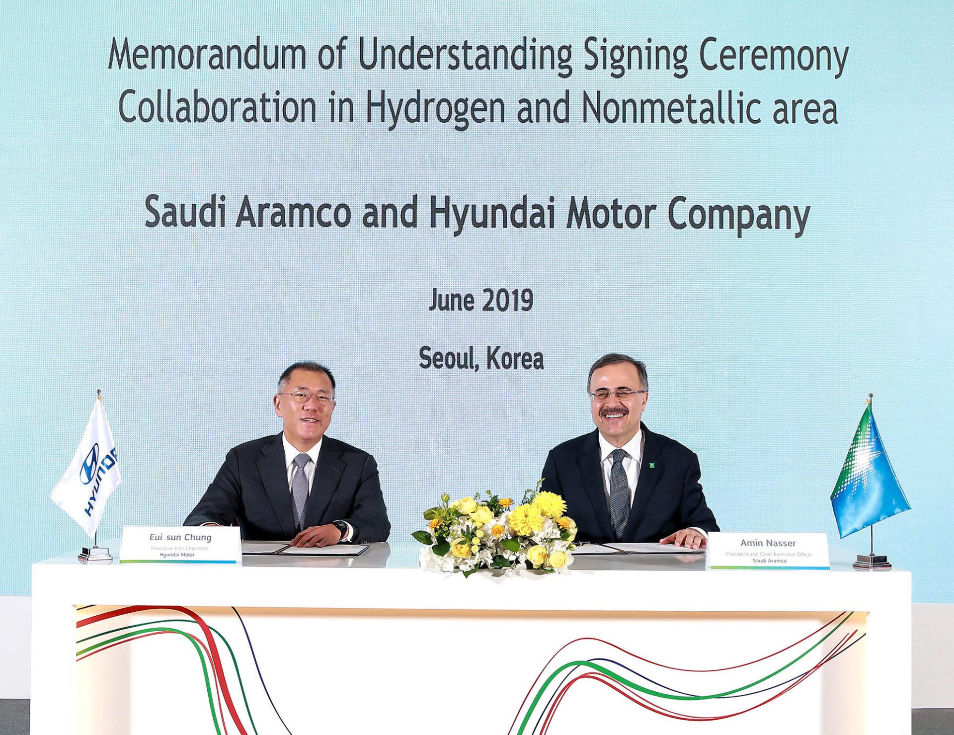 Hyundai e Saudi Aramco acordo