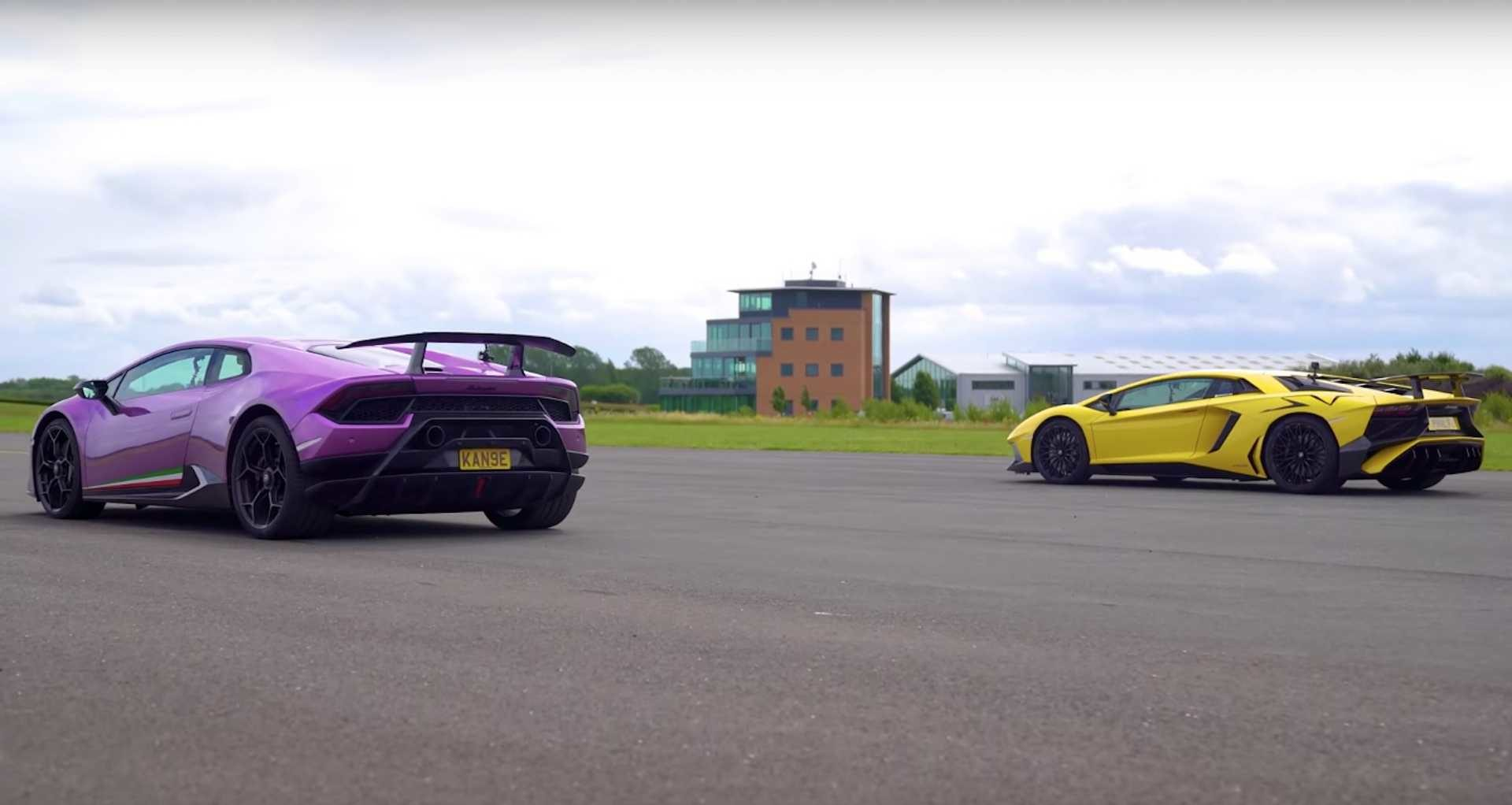 Lamborghini drag-race