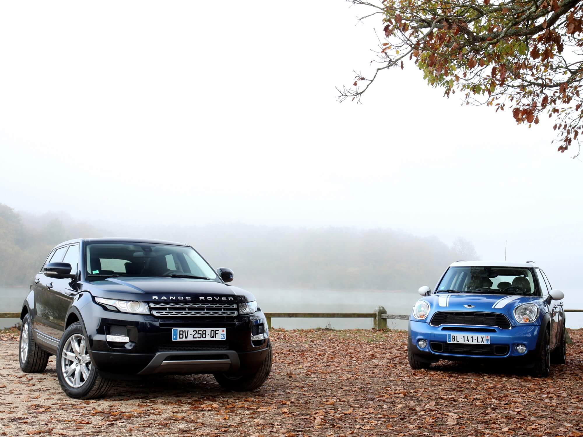 Range Rover Evoque e MINI Countryman