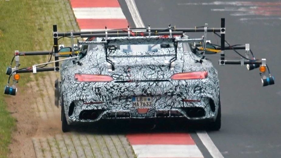 Mercedes-AMG GT Black Series Nurburgring, video espia