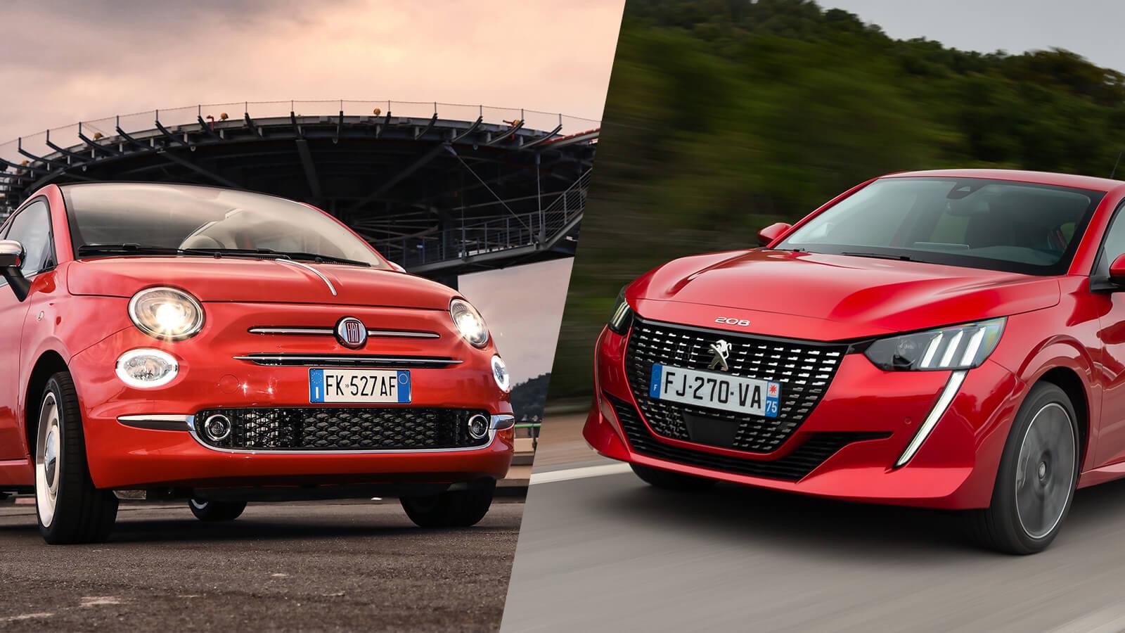 Fiat 500C e Peugeot 208
