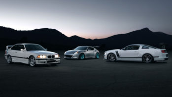 BMW M3 Lightweight, Nissan 370Z, Ford Mustang