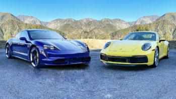 Porsche Taycan comparativo Porsche 911