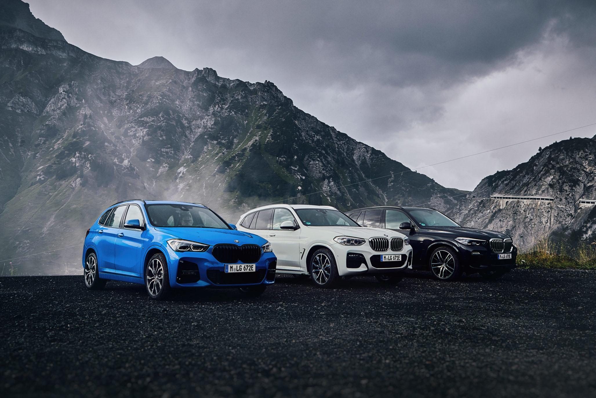 X1 xDrive25e, X3 xDrive30e, X5 xDrive45e