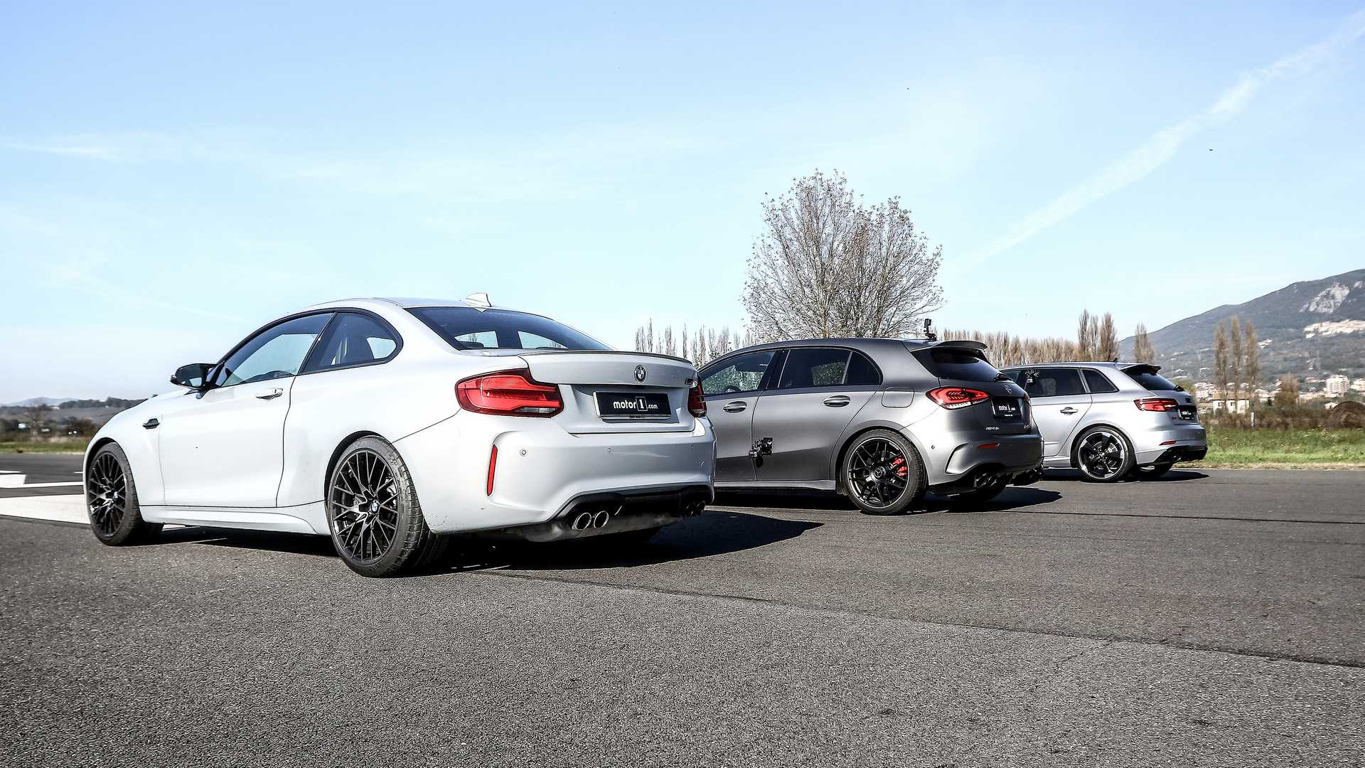 Mercedes-AMG A 45 S_BMW M2 Competition_Audi RS3