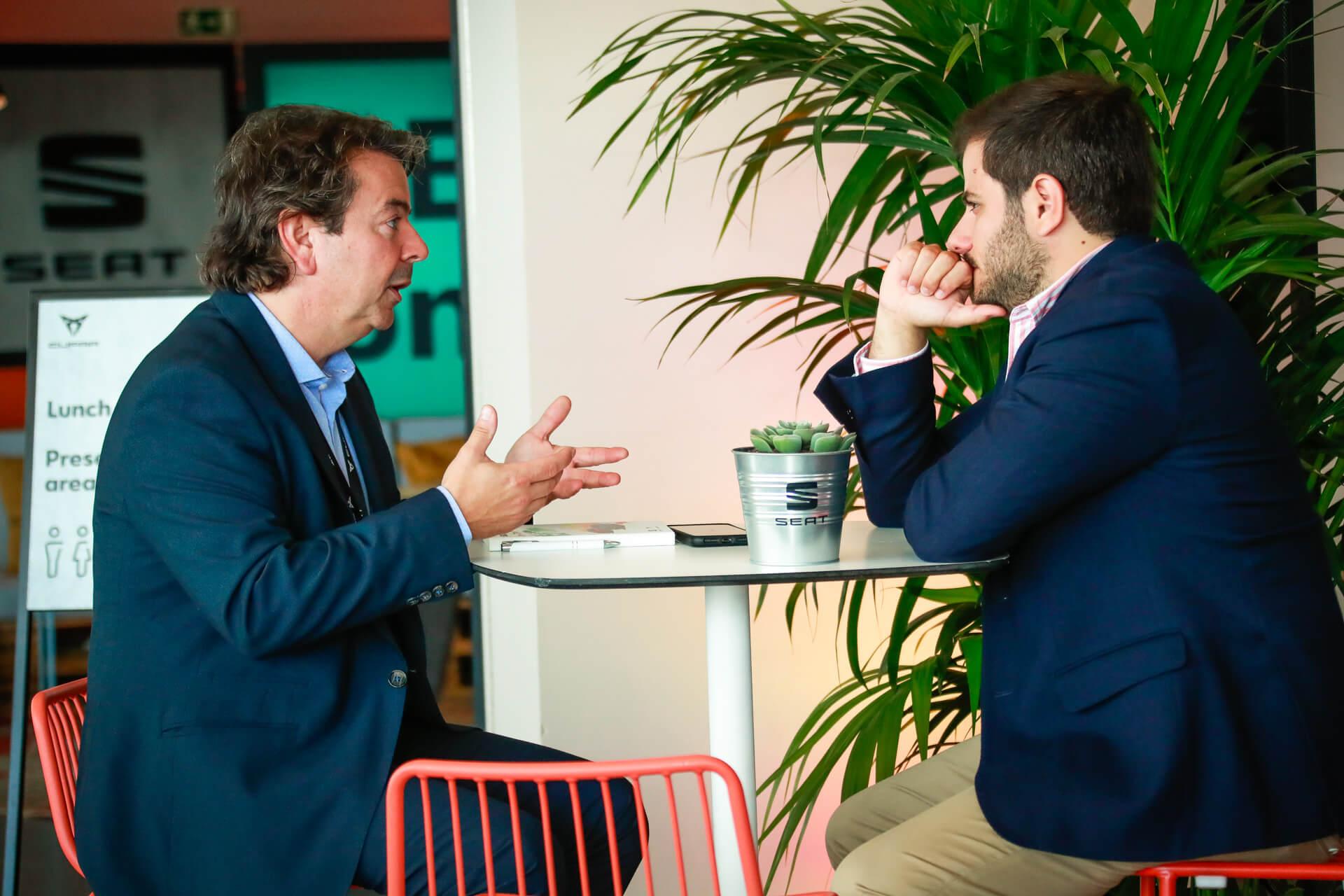 Isidre López com Diogo Teixeira