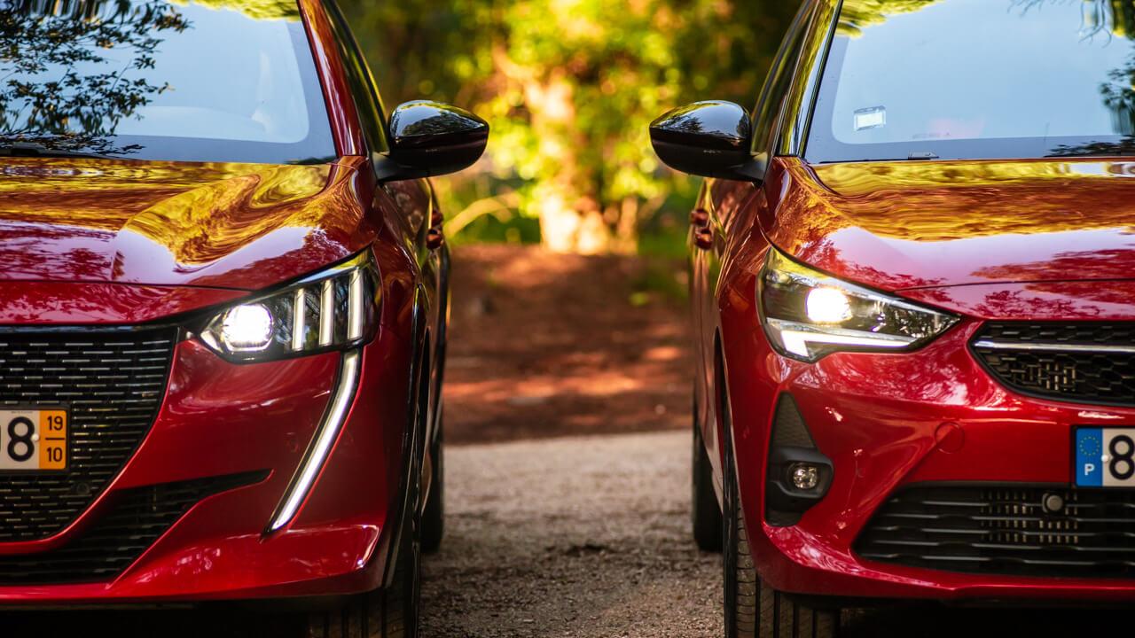 Peugeot 208 e Opel Corsa