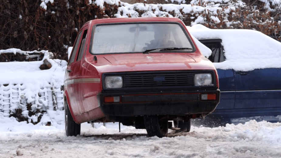 Reliant Robin Drift