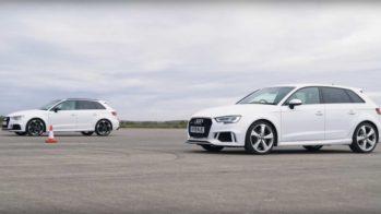 Audi RS 3 vs Audi RS 3 com filtro de partículas