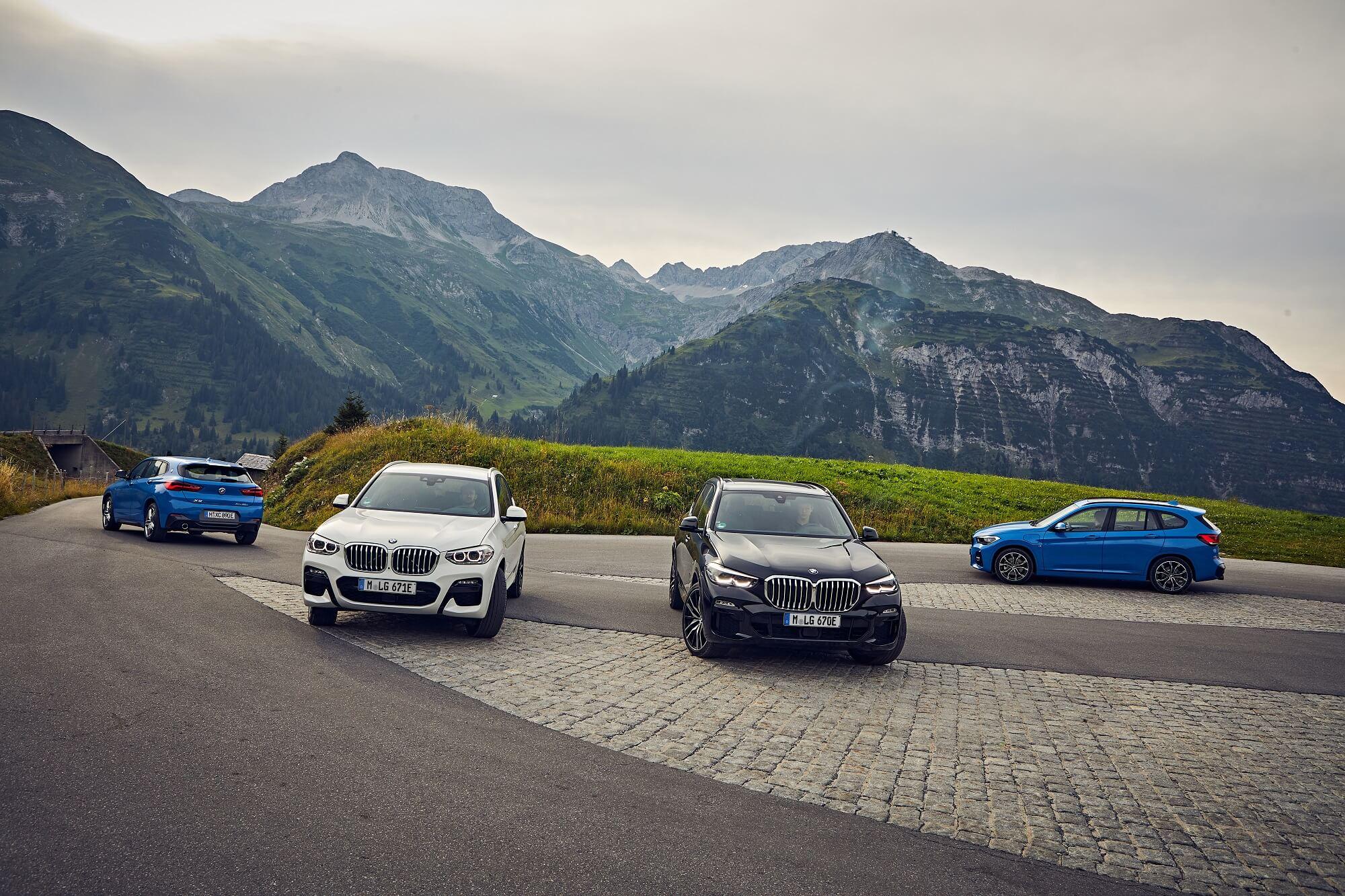 BMW X2 xDrive25e, X3 xDrive30e, X5 xDrive45e e X1 xDrive25e