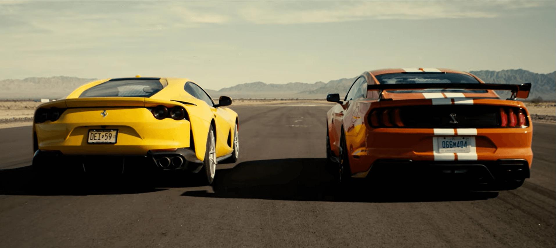Ford Mustang vs Ferrari 812 Superfast