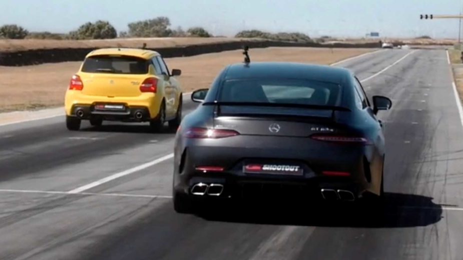 Suzuki Swift Sport vs Mercedes-AMG GT 63 S 4 portas