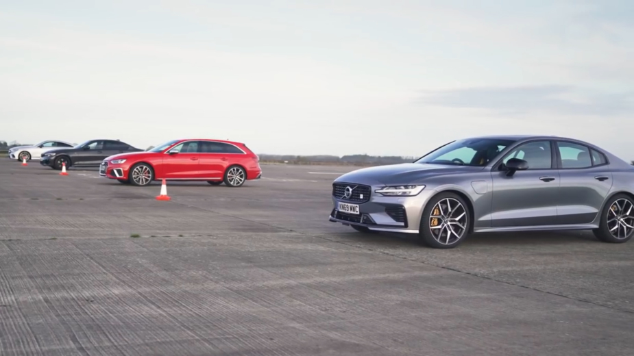volvo s60 t8 polestar engineered, audi s4 avant, bmw m340i, mercedes-amg e 53
