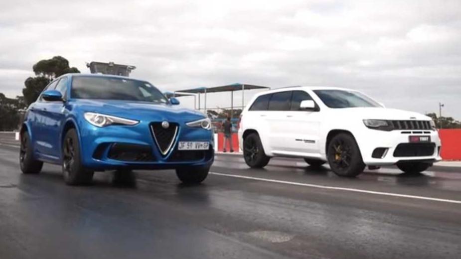 Alfa Romeo Stelvio Quadrifoglio vs Jeep Grand Cherokee Trackhawk