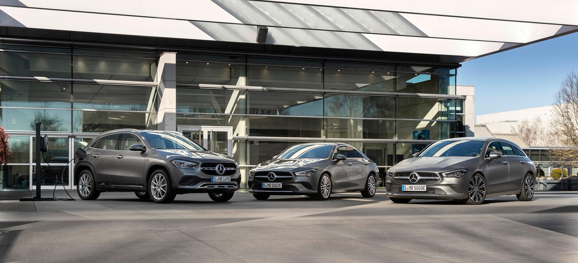 Mercedes-Benz GLA, CLA Coupé e CLA Shooting Brake Híbridos plug-in