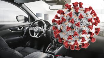 limpar carro do coronavírus