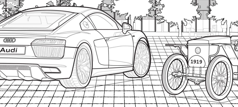 Audi livro de colorir