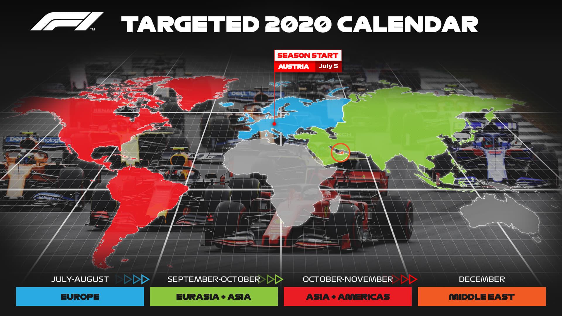 Calendário provisório mundial de Fórmula 1