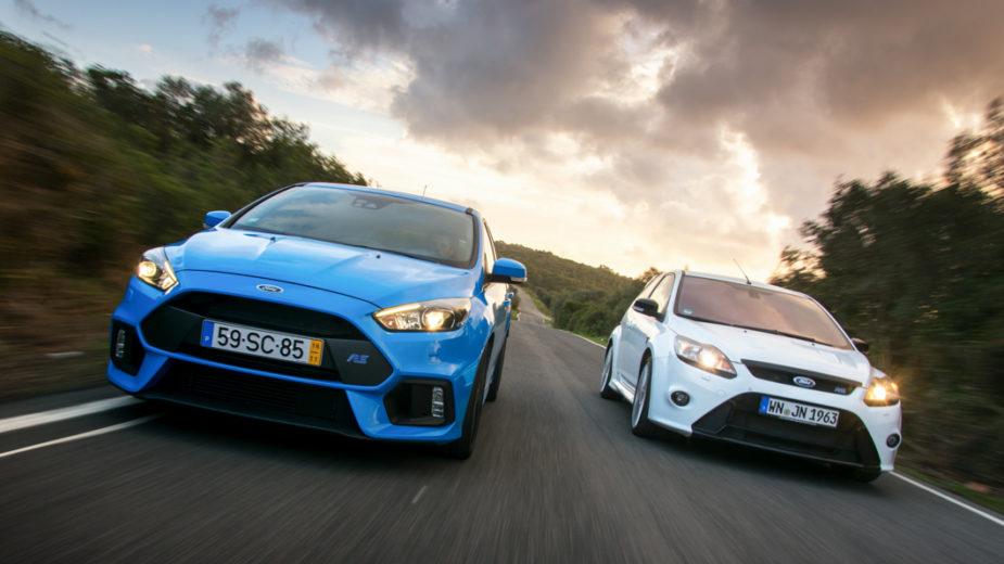 Ford Focus RS comparativo de gerações