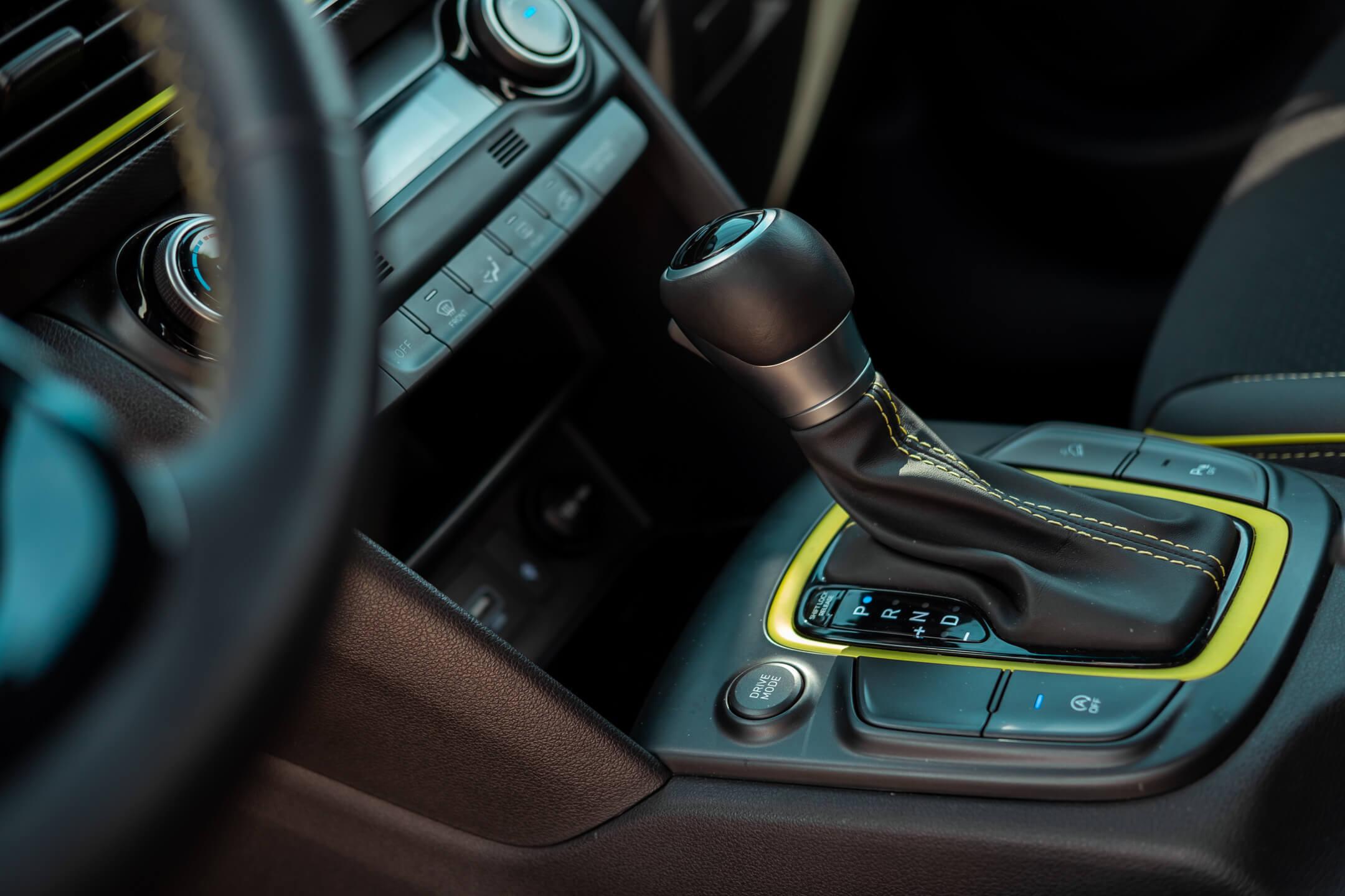 Hyundai Kauai, manípulo da transmissão DCT