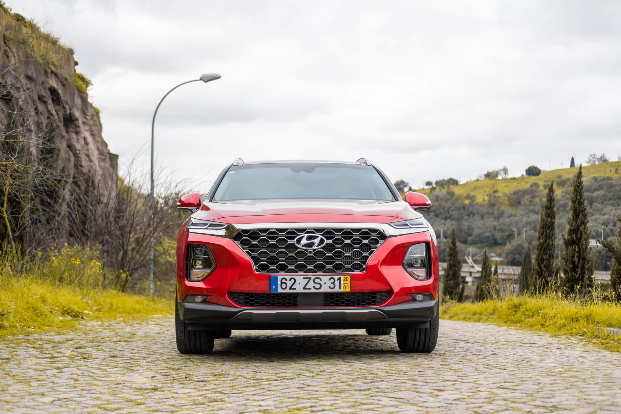 Vista frente Hyundai santa Fe