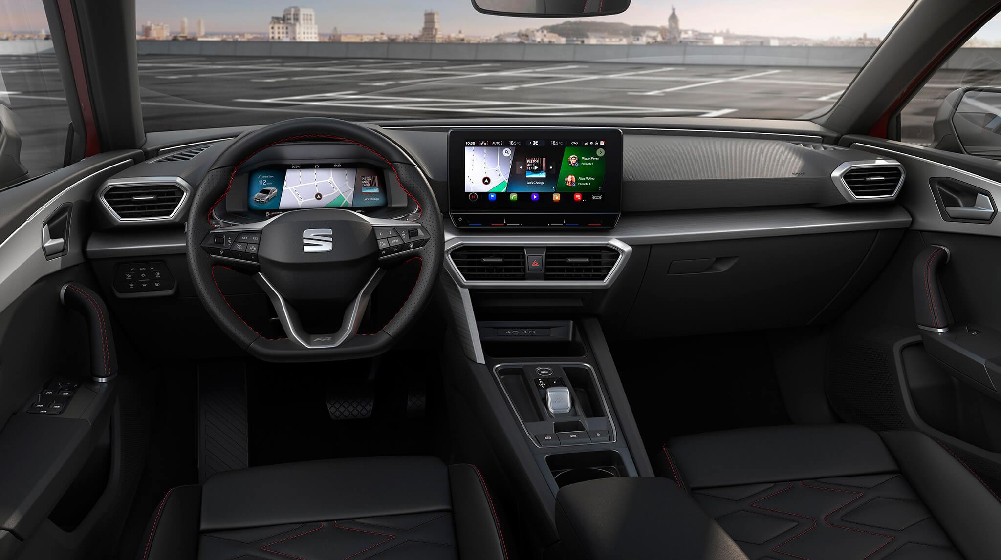 Interior do SEAT Leon 2020