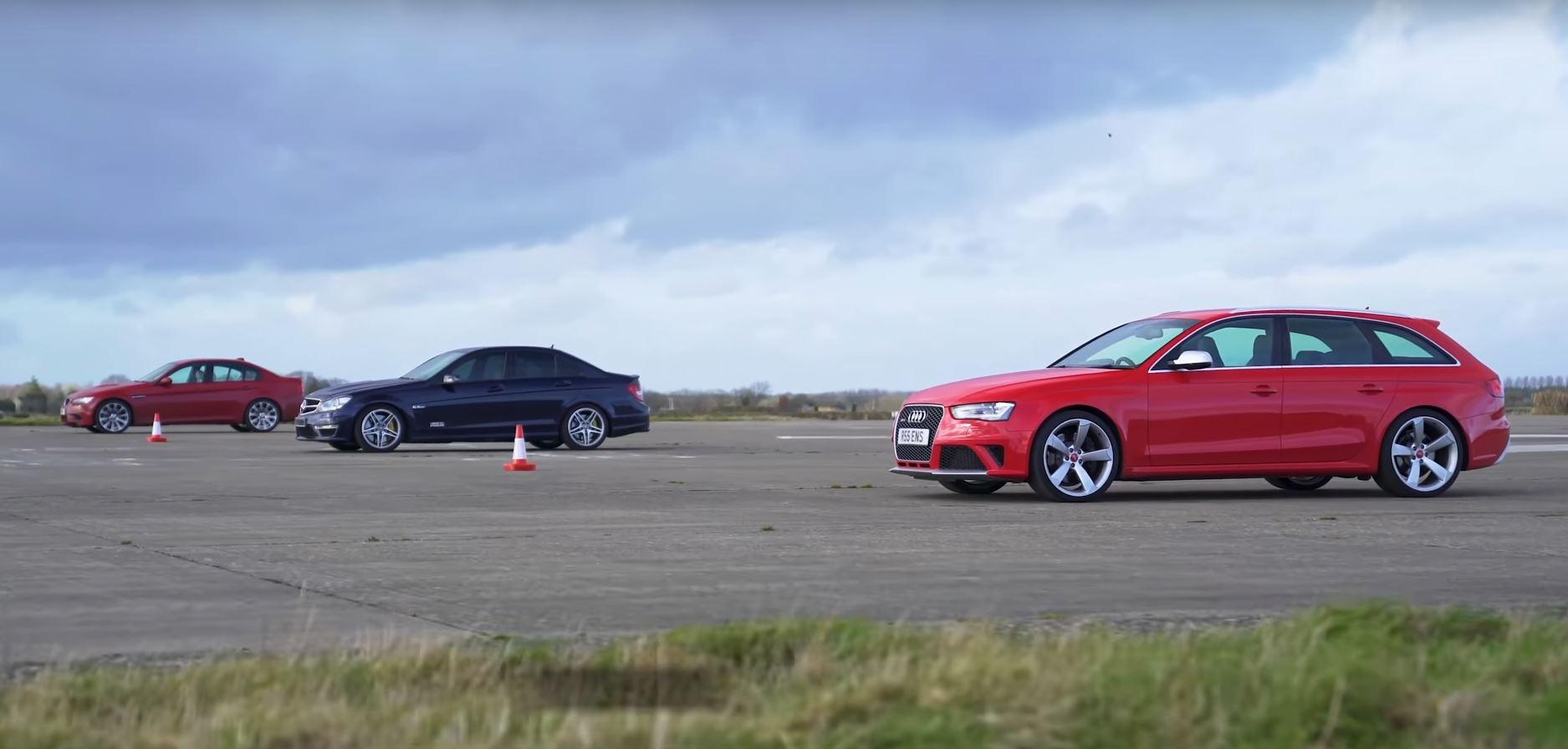 audi rs 4 avant b8 vs mercedes-benz c63 AMG W204 vs BMW M3 E90