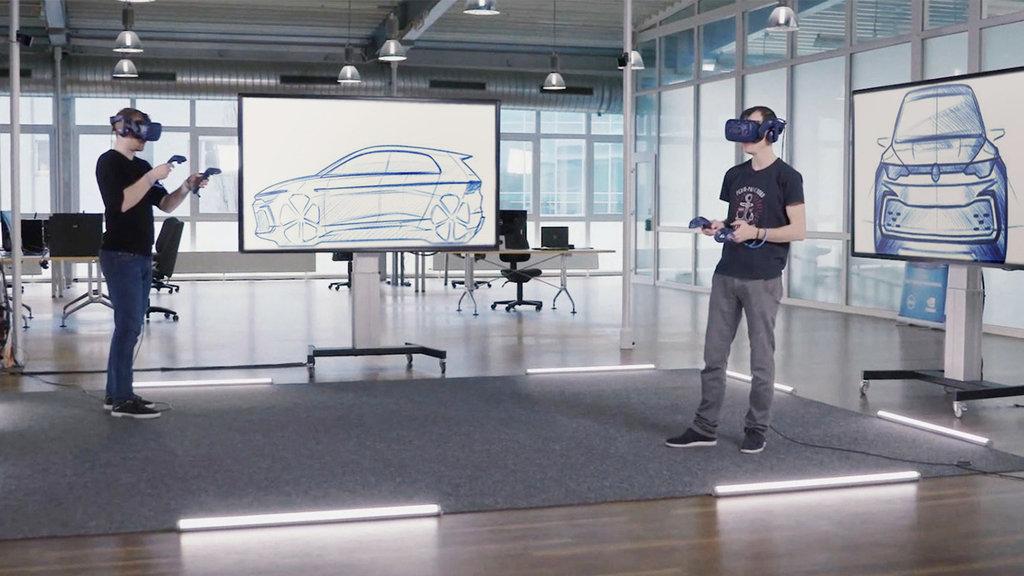 Designer a trabalhar em realidade virtual