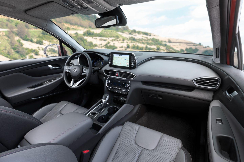 Interior do Hyundai Santa Fe