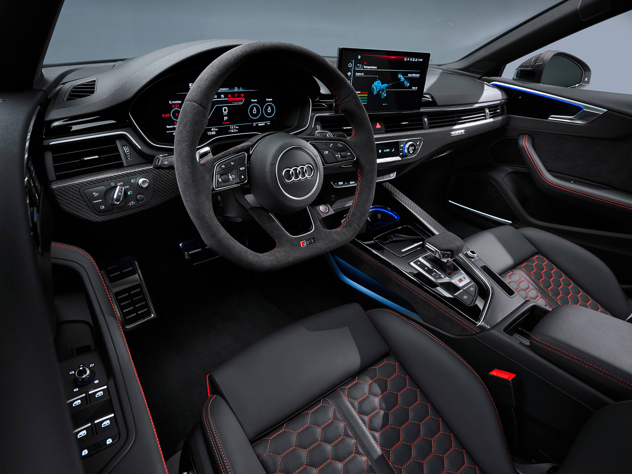 Interior do Audi RS 5 Coupé 2020