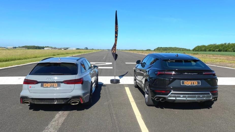 Audi RS 6 Avant e Lamborghini Urus drag race