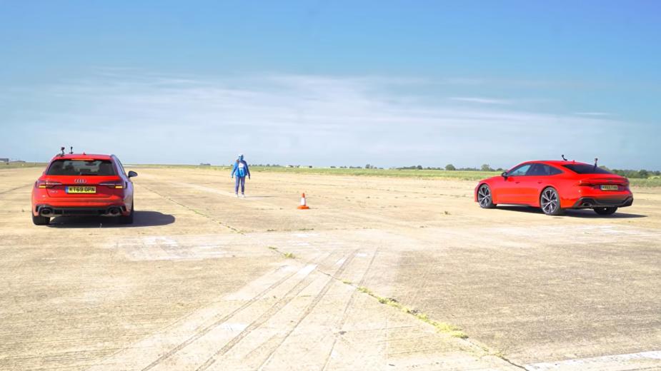 Audi RS 4 Avant, Audi RS 7 Avant drag race