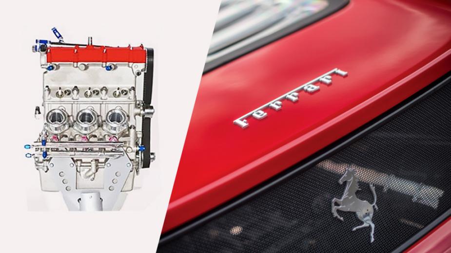 Ferrari motor a 2 tempos
