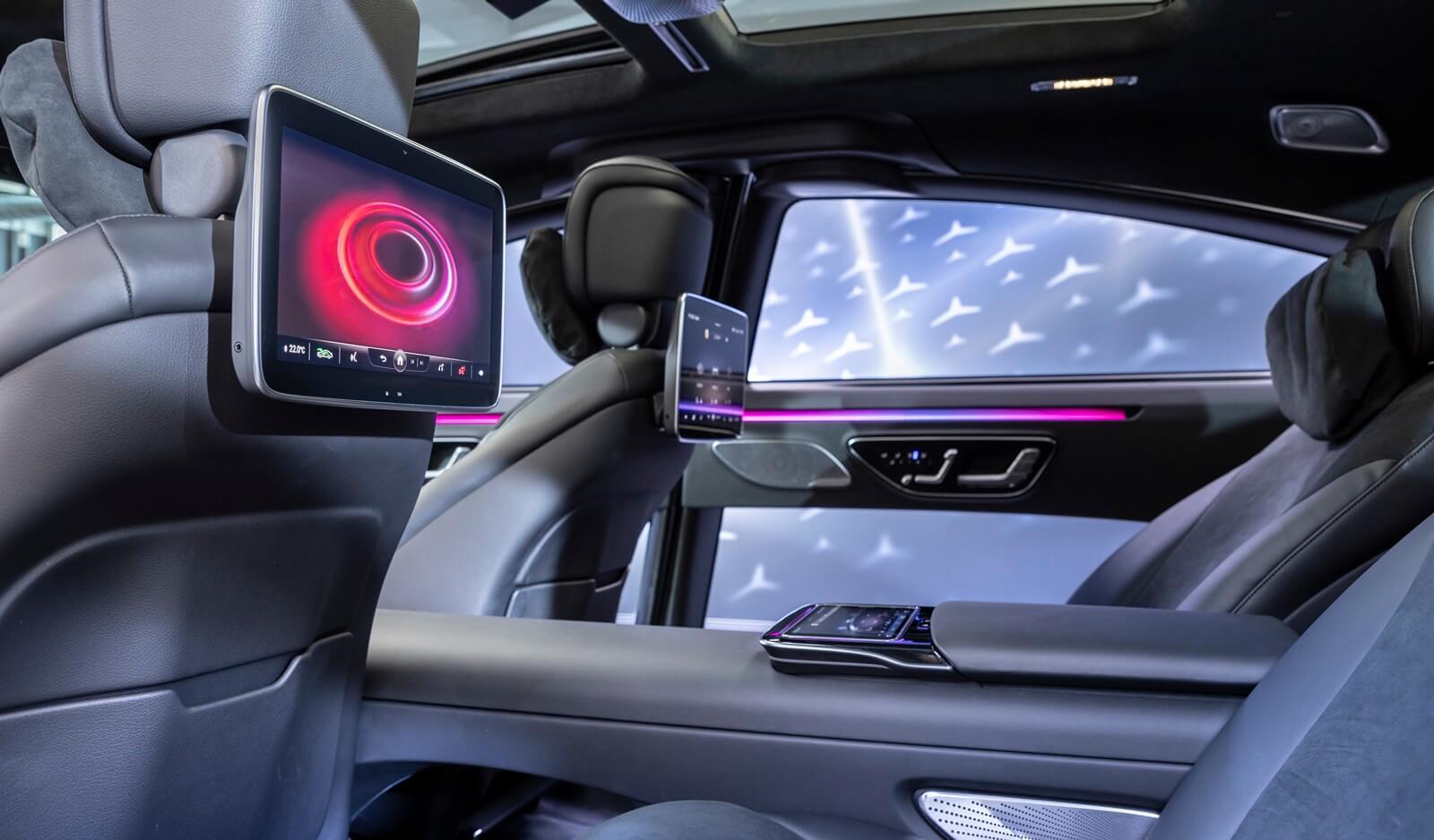Interior do Mercedes-Benz Classe S