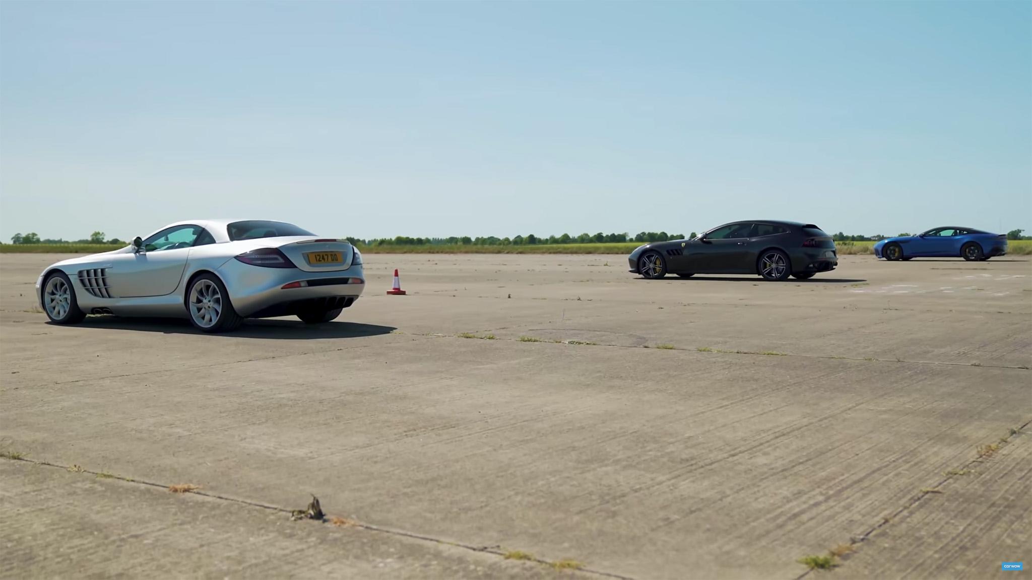 Mercedes-Benz SLR McLaren, Ferrari GTC4Lusso, Aston Martin DBS Superleggera