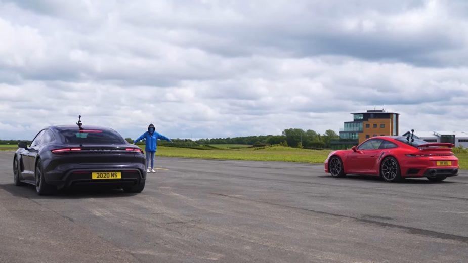 Porsche Taycan Turbo S vs Porsche 911 Turbo S