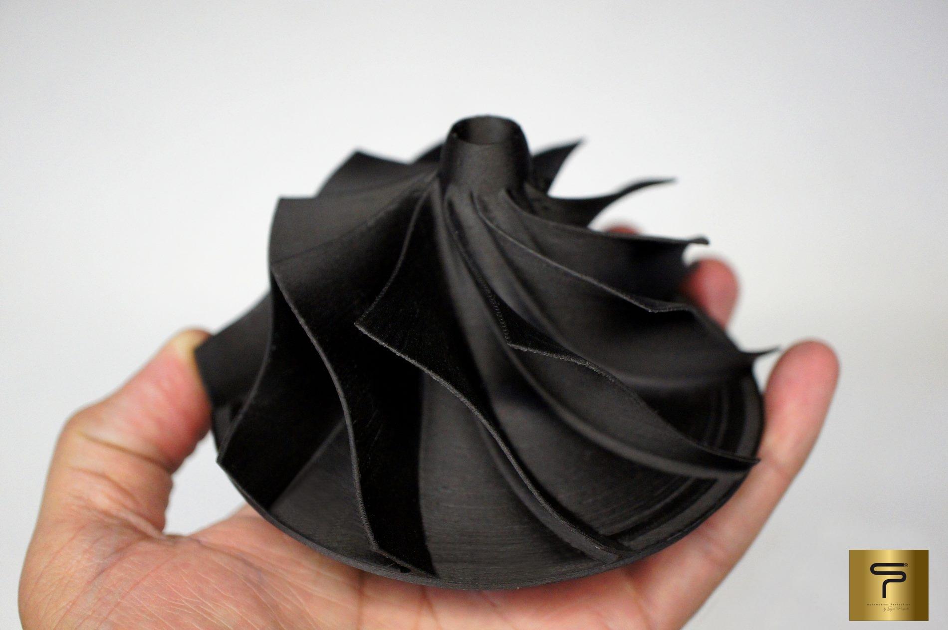 Turbina em fibra de carbono
