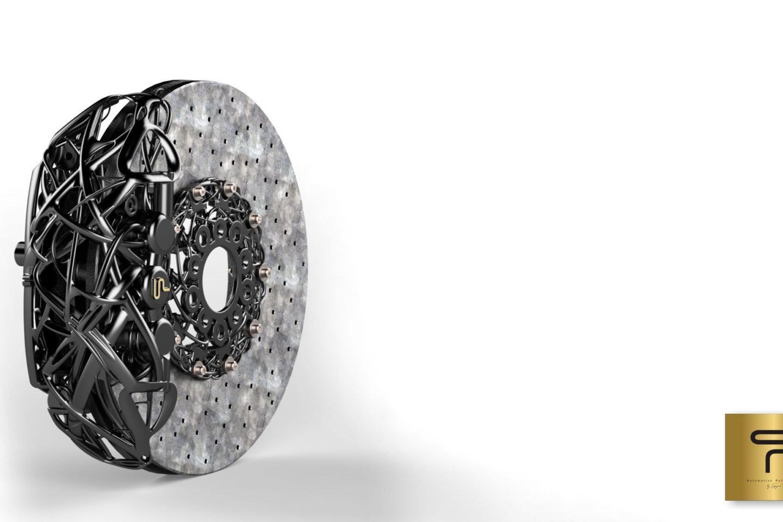 Pinça de travão em magnésio com disco de travão em cerâmica