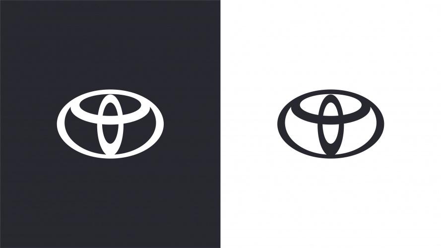 Logotipo a preto e branco