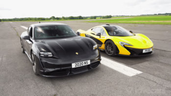 Porsche Taycan Turbo S vs McLaren P1