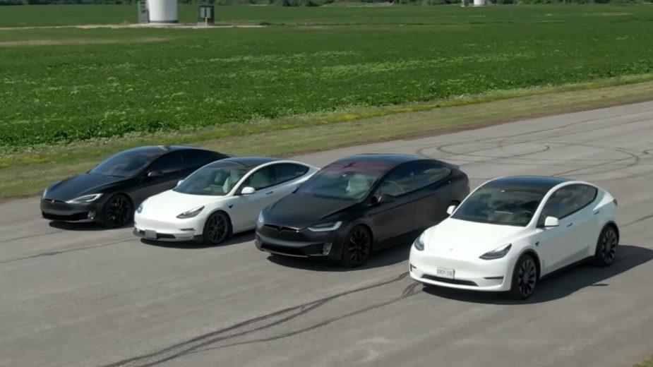 Tesla drag race S3XY