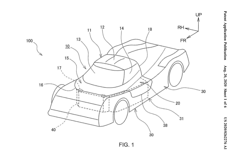 Patente canópia Toyota