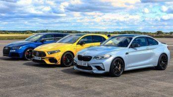 BMW M2 CS contra Mercedes-AMG A 45 S contra Audi RS 3