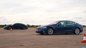tesla model s performance vs porsche taycan turbo s