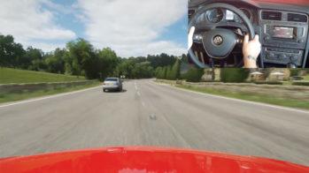 Volkswagen Golf simulador de condução