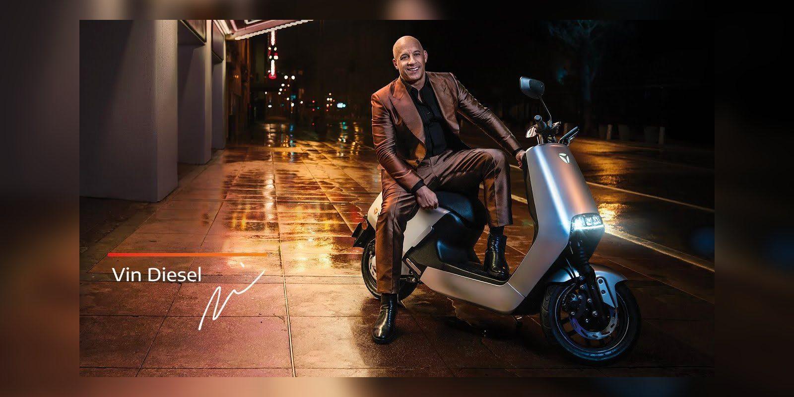 Vin Diesel, acelera elétrica Yadea G5